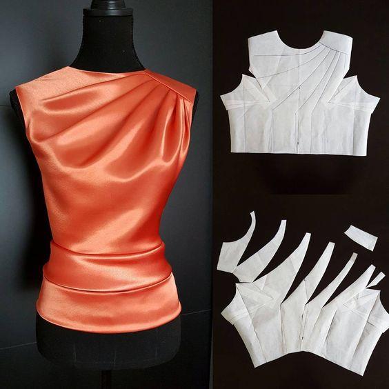 Как выкроить блузу со складками
