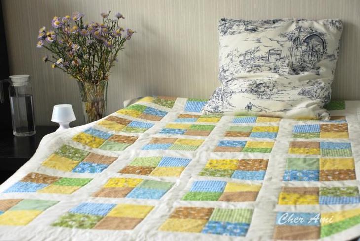 Мастерим лоскутное одеяло