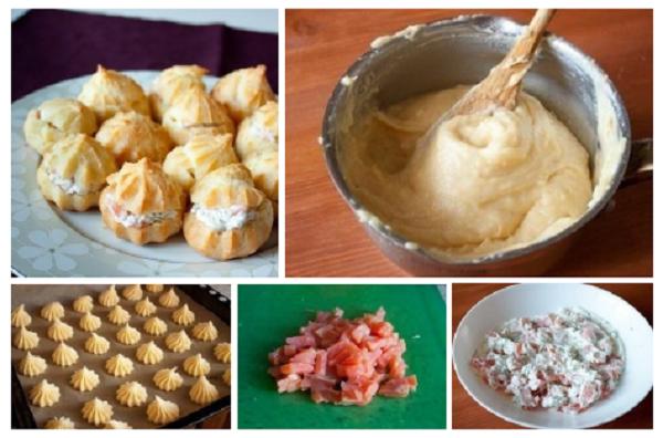 Профитроли со сливочным сыром и лососем. Для гурманов, которые любят самое лучшее!