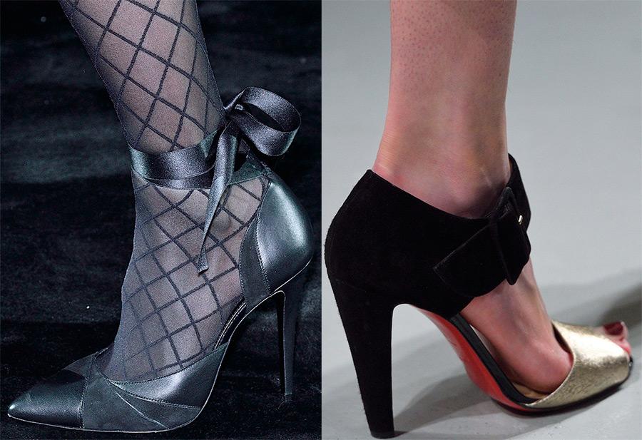 Модные тенденции —  нарядная женская обувь из зимних коллекций 2016-2017
