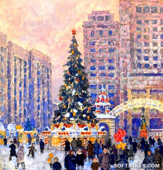 Новый Год в изобразительном искусстве СССР