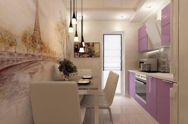 Фотообои на кухню возле стола во французском стиле
