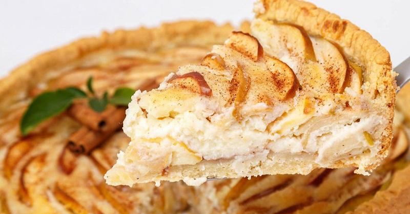 цветаевский яблочный пирог со сметанной заливкой