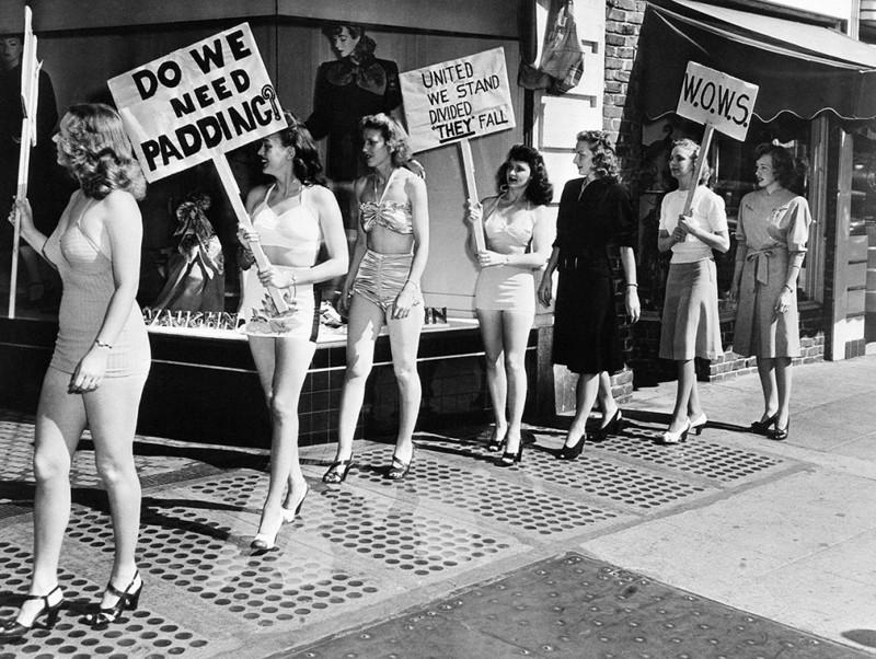 Как выглядели женские акции протеста в США 100 лет назад... и совсем недавно