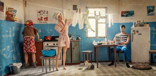 Если бы Барби и Кен жили в СССР