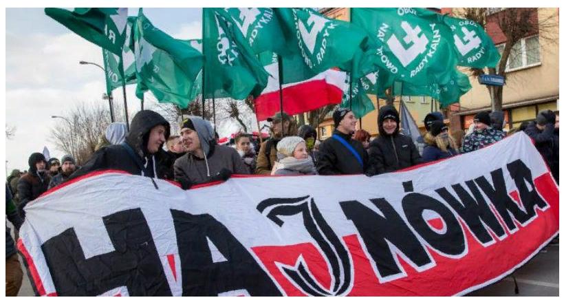 В Польше проходит марш националистов в честь «проклятых солдат»
