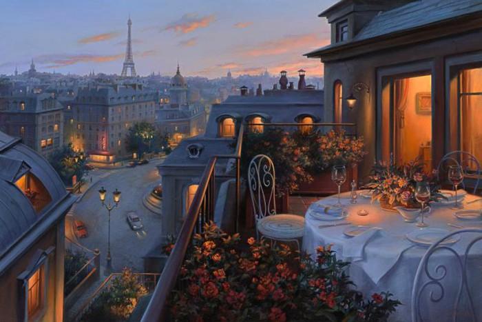 Праздник души и сердца — очаровательные городские пейзажи Евгения Лушпина