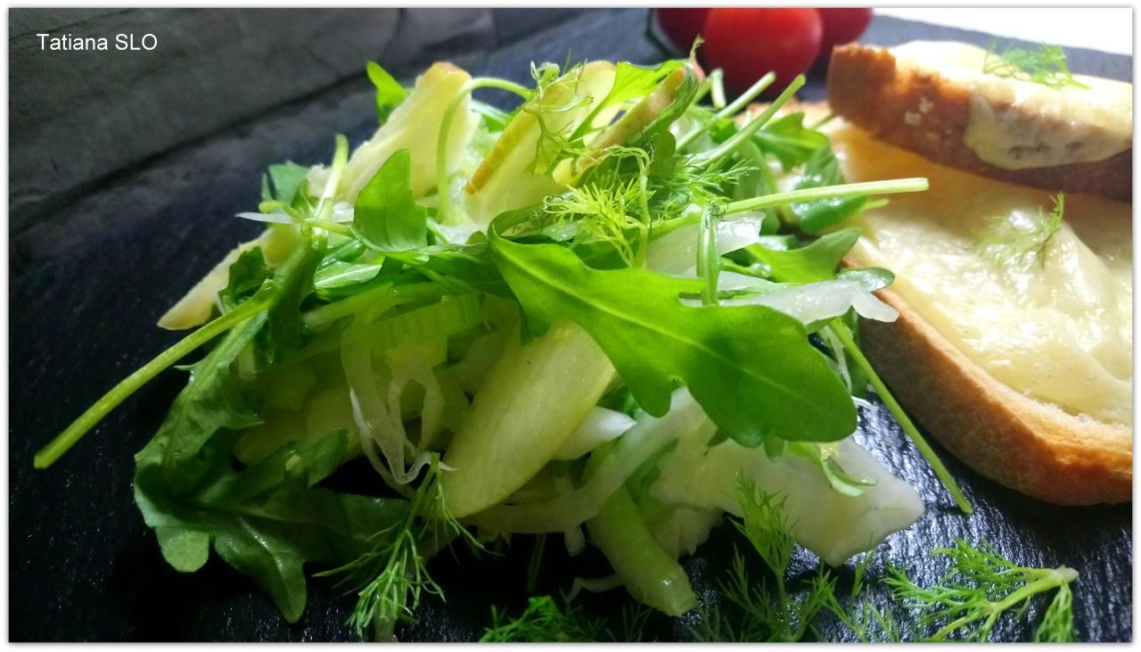 """""""FINOCCHIO"""" салат из корня фенхеля с яблоком и сельдереем"""