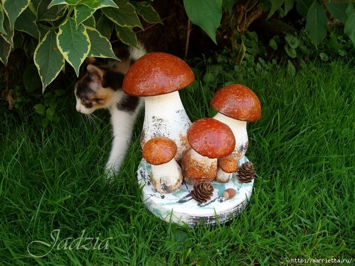 Как сделать грибочки из пенопласта и монтажной пены (5) (700x525, 385Kb)