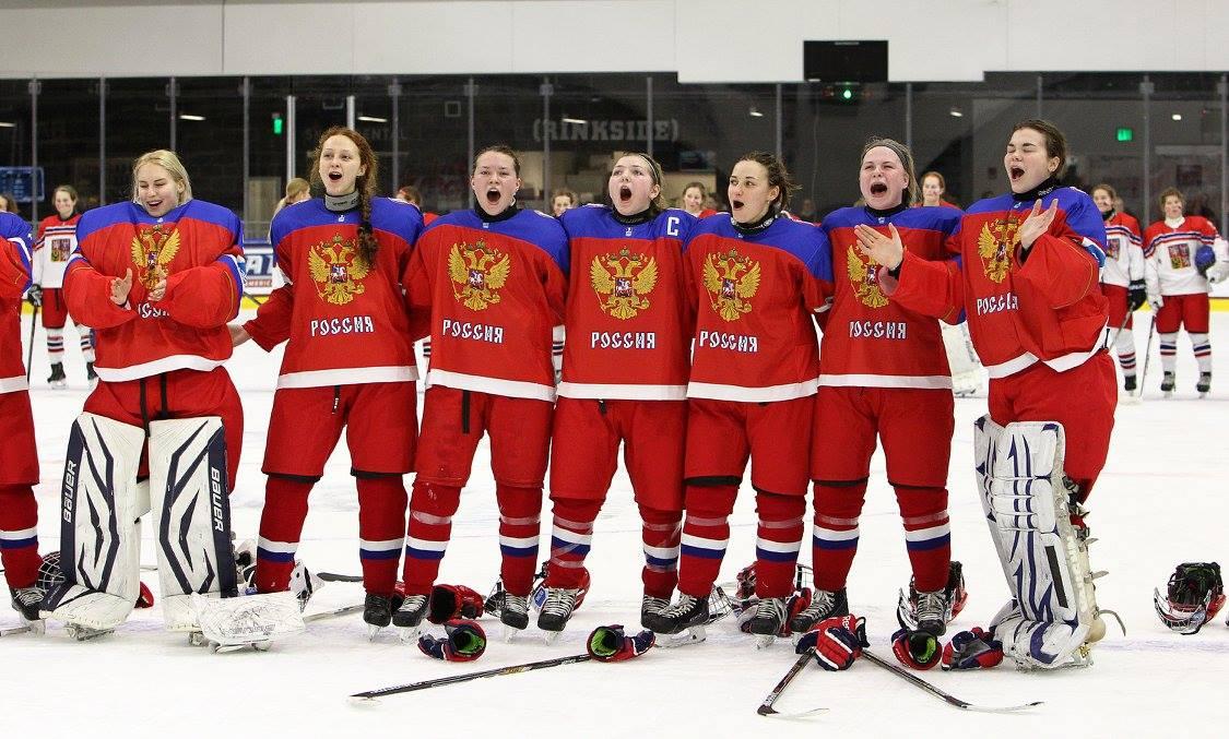 Русские хоккеистки не дали о…