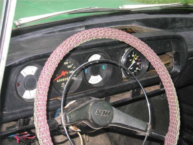 Оплетка на руль из проводов