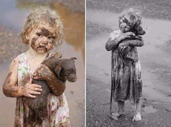 Девочка вытащила из грязевой ямы щенка. Человек - это или с детства, или никогда