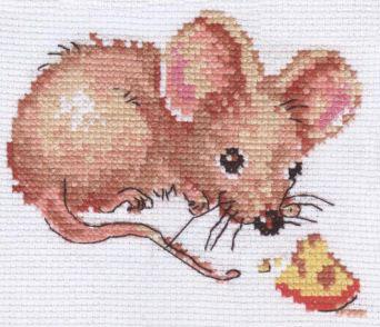 Схемы вышивки крестом мышонок