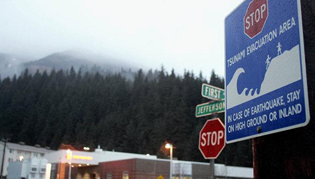 Угроза цунами объявлена после землетрясения у побережья Аляски