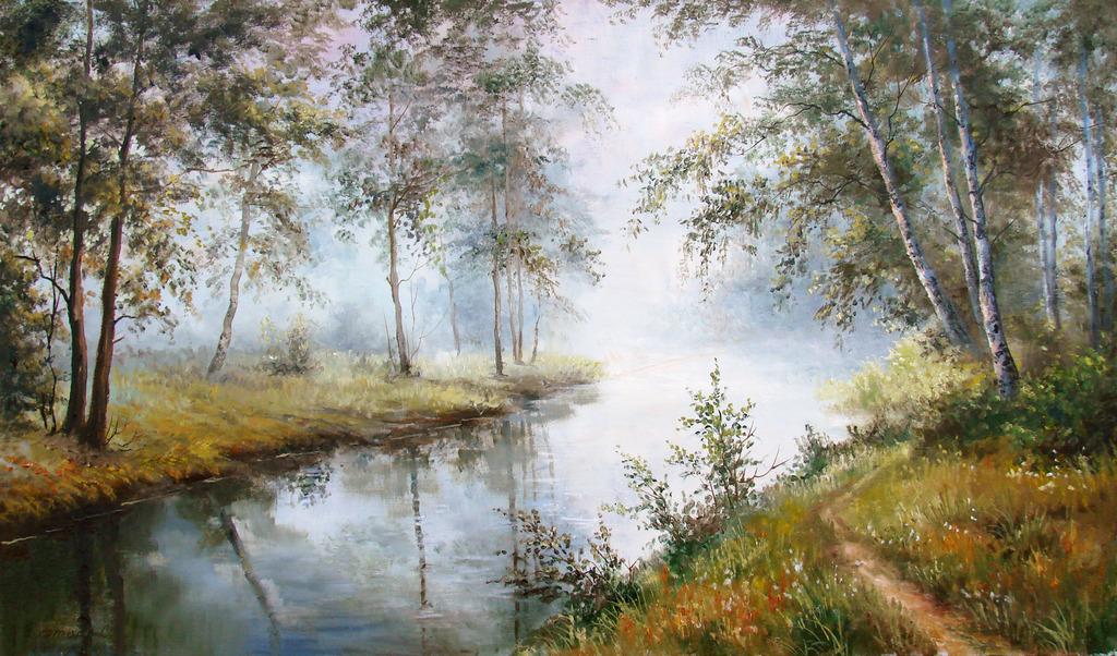 Летние пейзажи Светланы Грохотовой