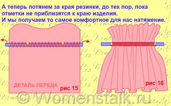Сшить платья с резинками в рукавах 286