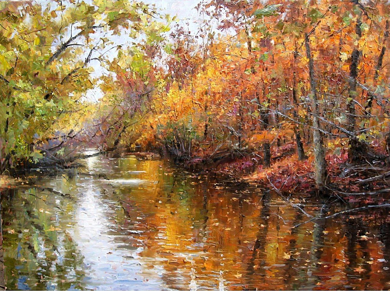 Осенний колорит и воздух, воздух, воздух... Американский художник Эжен Джей Папроски