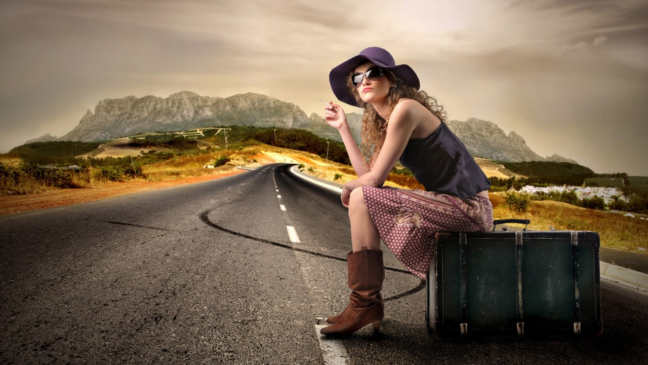 Девушка фото моего путешествия
