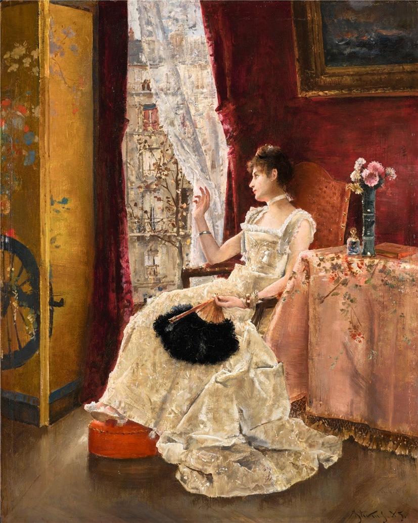 Альфред Стивенс и его картины по женской тематике