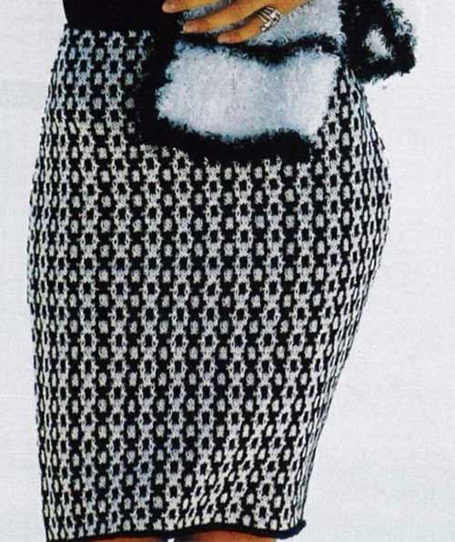 двухцветная юбка