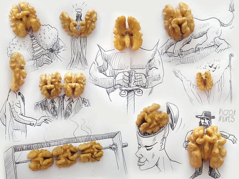 Виктор Нунес - Рисунки из ореха