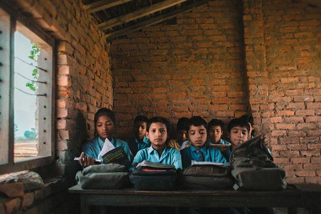 В небольшой сельской школе на юго-западе Непала