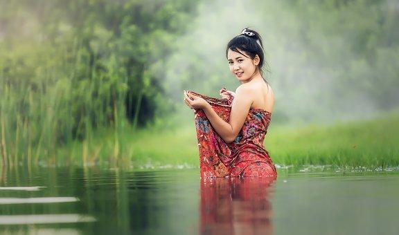 Ванна, Обнаженный, Молодые, Beauliful