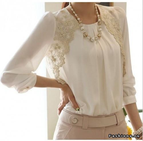 Женская модная блузка из шифона