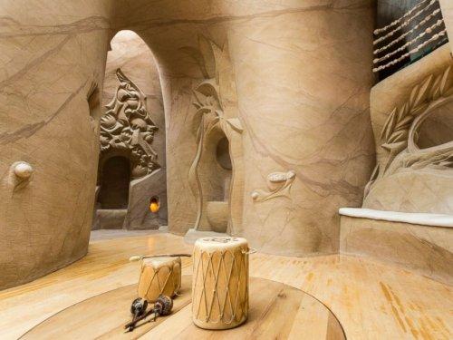Резные пещеры невероятной красоты в пустыне Нью-Мексико (14 фото)