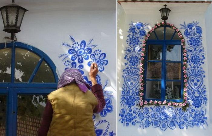 Агнешка Кашпаркова – 90-летняя мастерица, которая разрисовала дома в чешской деревне
