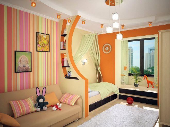 Комната для мальчика и девочки с перегородкой
