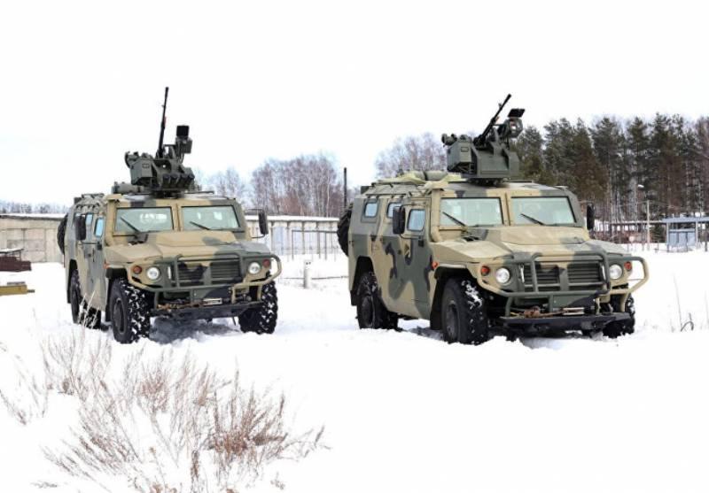 Минобороны приняло на вооружение «Тигры» с боевым модулем «Арбалет-ДМ»