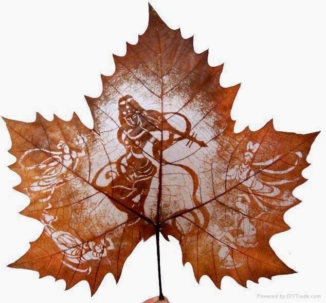 рисунки на листьях клёна выборе