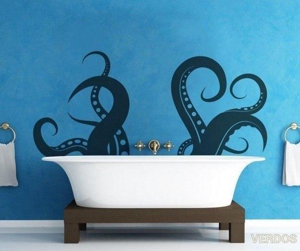 Креативное оформление ванной.