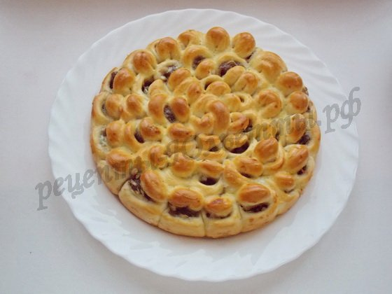 Сладкий пирог хризантема рецепт фото