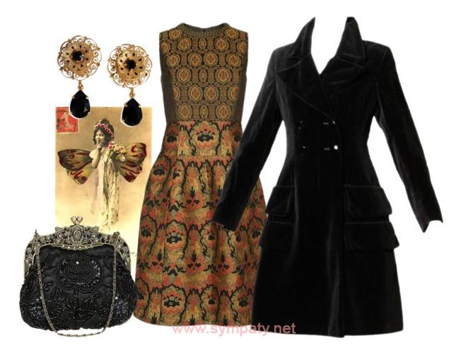 Викторианский стиль мода одежда