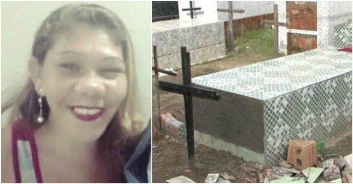 Женщина была погребена зажив…