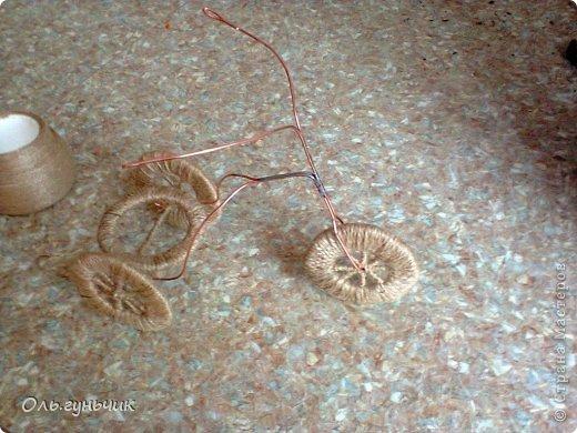 Мастер-класс Педагогический опыт Поделка изделие 8 марта Ассамбляж Моделирование конструирование Шпагатный велосипед МК Кофе Проволока Шпагат фото 24