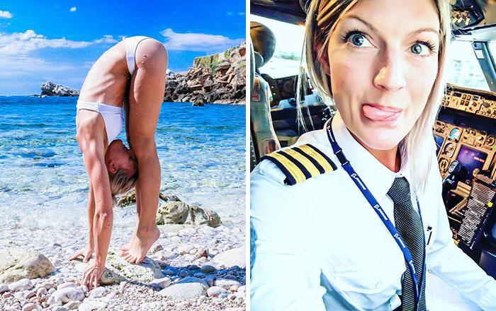 Самый позитивный пилот: красавица из Швеции ведет инстаграм прямо из кабины самолета