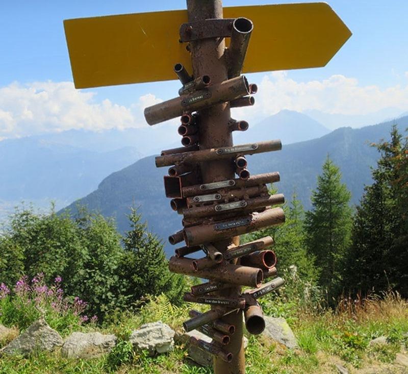 Интересное приспособление для туристов в Швейцарии