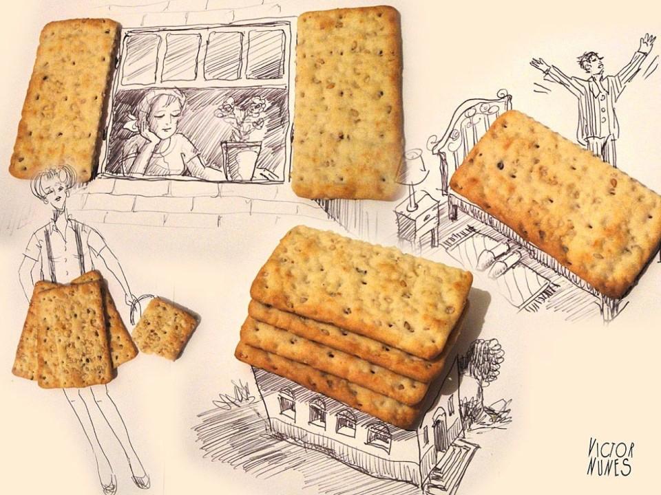 Виктор Нунес - Рисунки из печенья 3