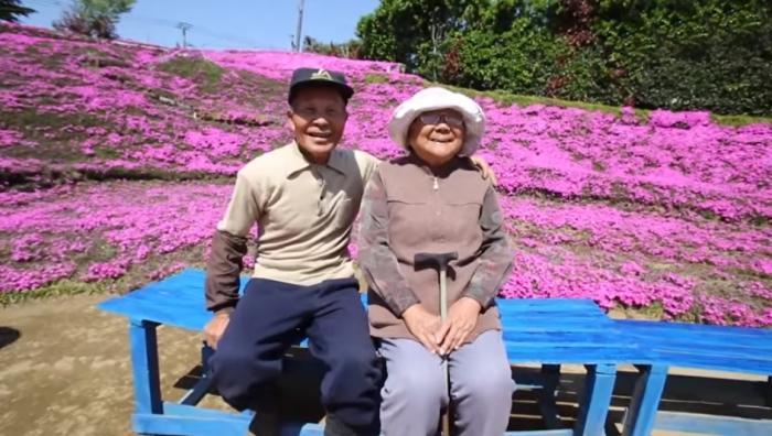 Японец высадил сад из цветов, чтобы вернуть радость жизни любимой