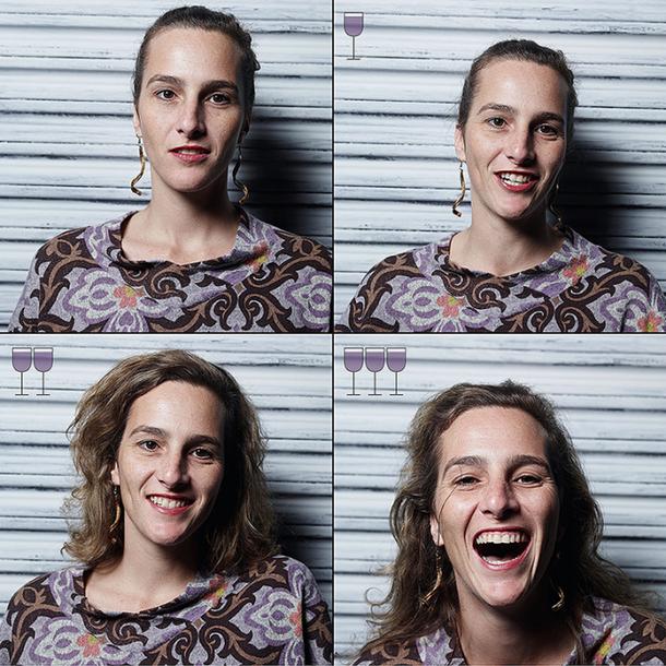 Фотограф давал им все больше и больше вина, и снимал на камеру то, как они преображались!