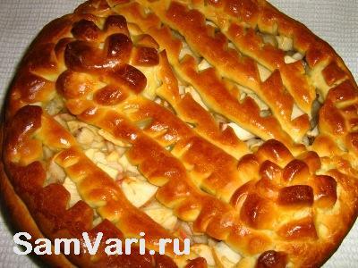 дрожжевой яблочный пирог рецепт
