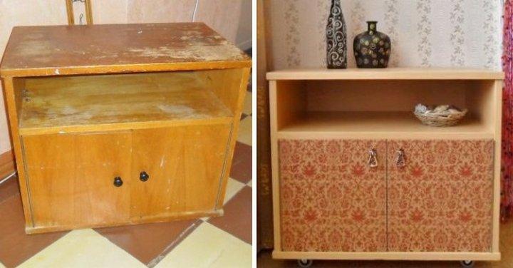Как преобразить старый шкаф своими руками фото до и после картинки 62