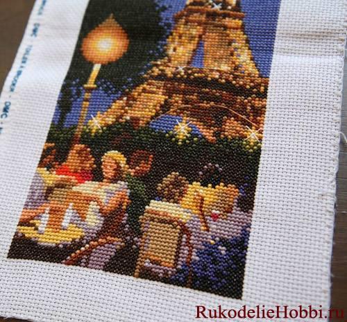 Вышиваем вечерний Париж