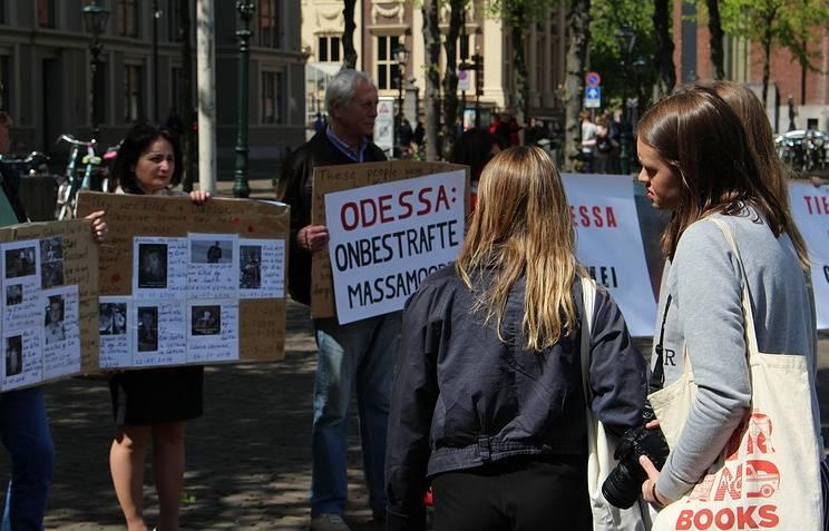 В Гааге прошла акция памяти жертв одесской трагедии