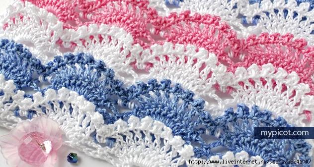 Удивительный многоцветный узор, заслуживающий внимания + 4 многоцветных узора. Вязание крючком