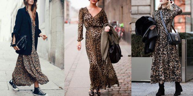 Модные платья 2019 с леопардовым принтом