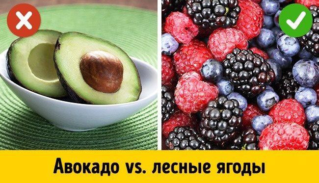 Самые опасные и самые полезные фрукты для тех, кто работает над фигурой